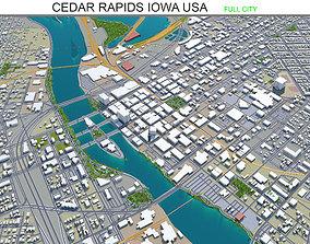 3D model Cedar Rapids Iowa USA 30km