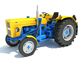 Old Classic Tractor 3D model