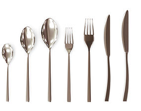 3D model dinner Cutlery Set