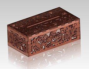 3D model Rose Tissue Box