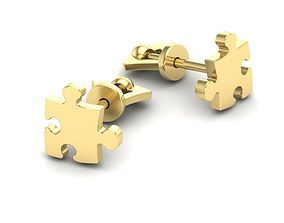 3D print model Earrings puzzles