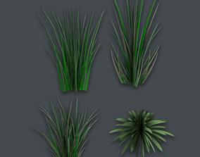 3D asset realtime Grass Pack