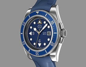 Diver wrist watch My own design 3D model