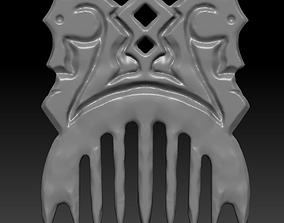 3D print model Slavic comb