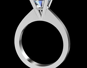 Single Stone Diamond Ring 3D Print Model