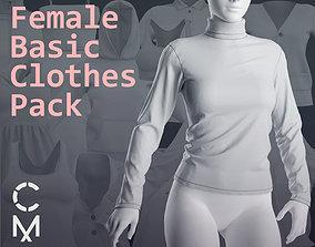 Female basic clothes pack Marvelous Clo 3D 18 zprj 1