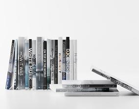 3D model Modern books p 2
