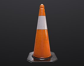 Traffic Cone 3D asset realtime