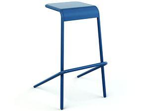 3D model Chair Four Leg Stool