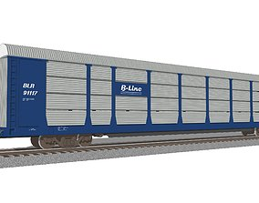 bnsf Train Car - Car Carrier - Autorack 3D