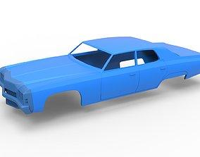 3D printable model Diecast shell Oldschool car Scale 1 1