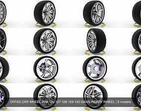 ORTAS CAR WHEEL RIM 126-127-128-129-130 GAME 3D model 1