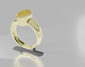 Stone-Setting Ring Oval 3D printable model