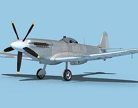3D model Supermarine Spitfire Mk 14e V00