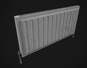 3D asset Low Poly Radiator