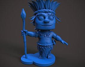 Tribal Man Cartoon 3D print model