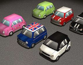 3D model Cartoon Cars pack 4