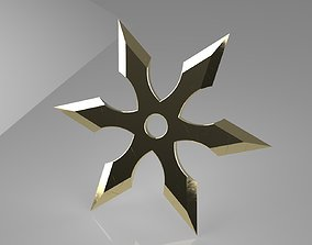 3D printable model Ninja Star 6 blades Double sided 2