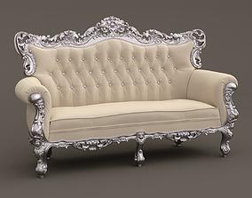 Fabulous Baroque Sofa Belle de Fleur French Love 3D model