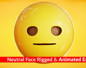 Neutral Face Animated Emoji Reaction 3D model
