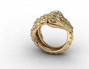 jewellery ring crocodile 3D print model