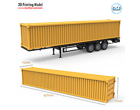 Container Trailer 1-32 3D printable model