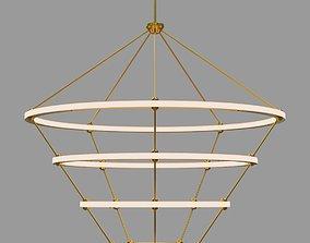 lamp Halo Chandelier - 4 Rings by Paul Loebach 3D