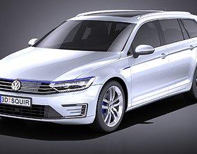 3D Volkswagen Passat Variant GTE 2015 VRAY