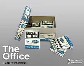 Paper Ream and Box 3D asset
