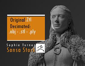 Sophie Turner - Sansa Stark - Game Of 3D print model