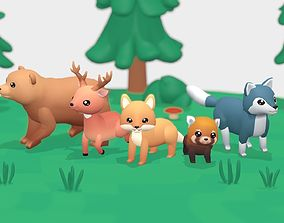 Forest Animals - Wild Series 3D model animated