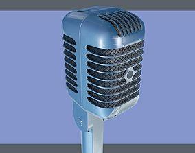 3D model voice Shure retro microphone