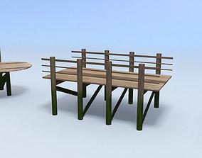 boardwalk 3D asset