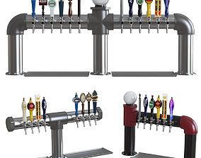 Industrial Pipe Draft Beer Towers 2 3D