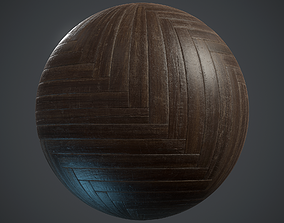 3D asset Old herringbone Parquet - PBR textures