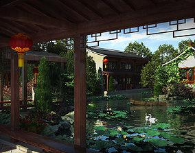 Chinese classical garden 011 3D