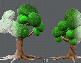 Trees Cartoon V01 3D model