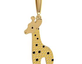 Giraffe Charm 3D print model