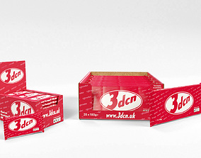 3D model Candy bars with shelf ready display trays kit kat