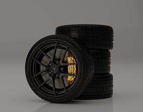 Mercedes AMG Benz TYRES and RIMS 3D model