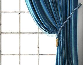 3D model drapery Vintage Velvet Drapery
