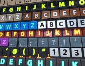 3D asset Letters Kit