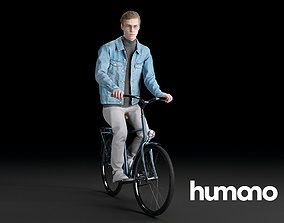3D Humano Biking Man 0703