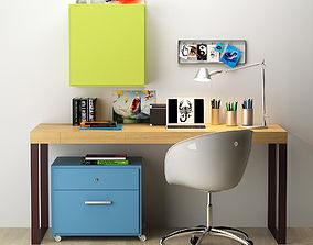 desk 1 3D model