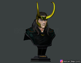 3D print model LOKI Bust With Helmet - Tom Hiddleston - 3
