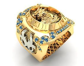 563 Lucky Dragon Ring 3D print model