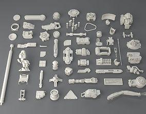 Kit bash-58 pieces - collection-1 3D model