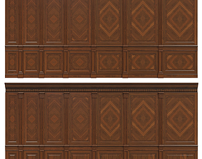 3D asset Wood panels with veneer 02