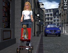 Stroller 1 for Poser 3D model