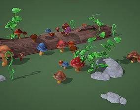 3D Cartoon Mushroom